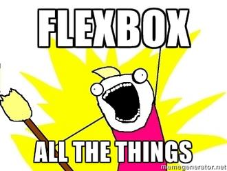 Flexbox all the things