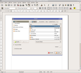 OpenOffice avec le look and feel GNOME